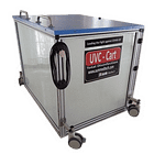 UVC disinfects all the passengers luggages